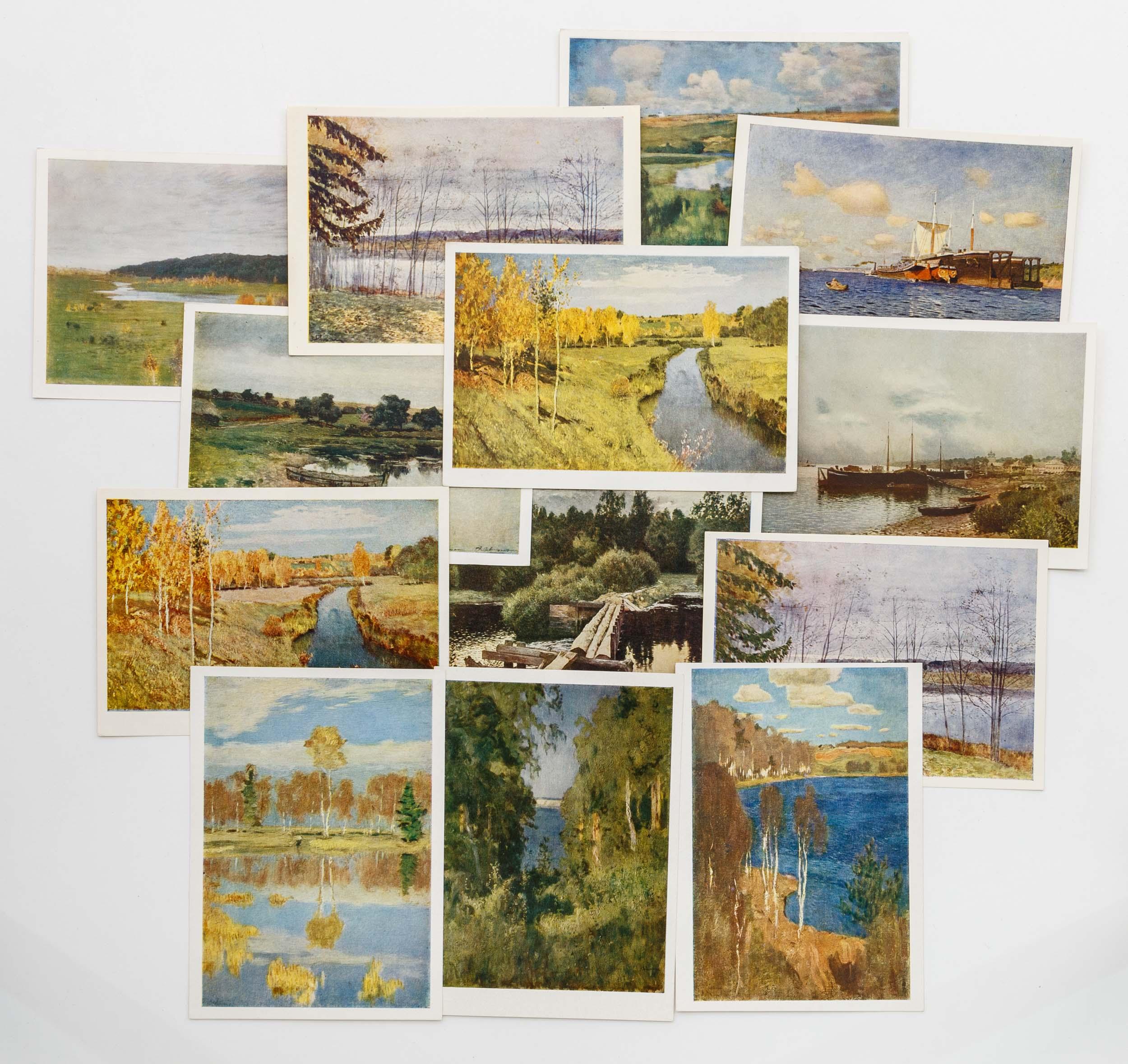 Дизайн открытки, открытка с репродукцией картины