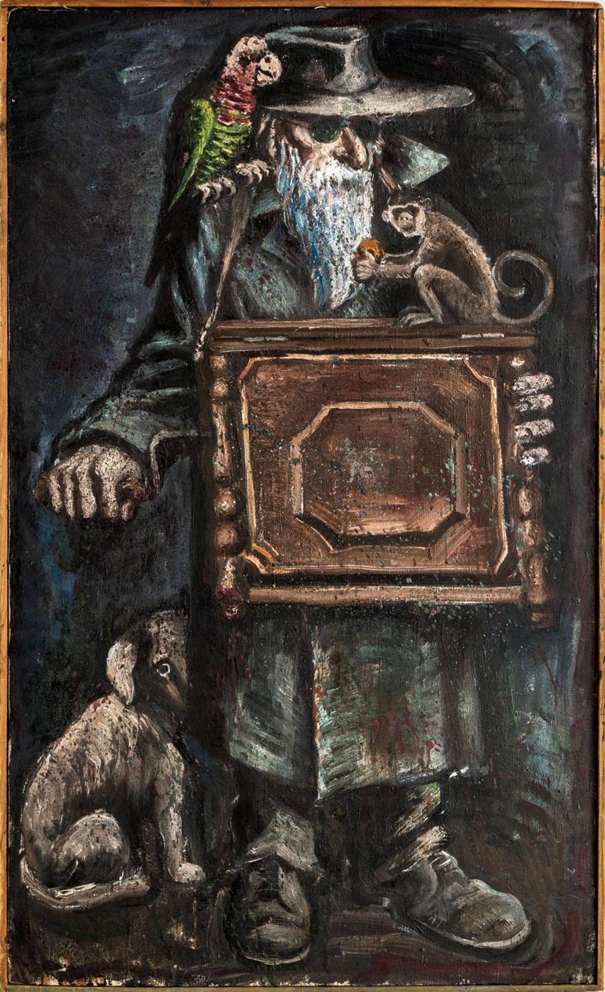 Открытке, шарманщик с обезьянкой картинки